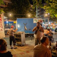 Street musicians at street fair in Thessaloniki