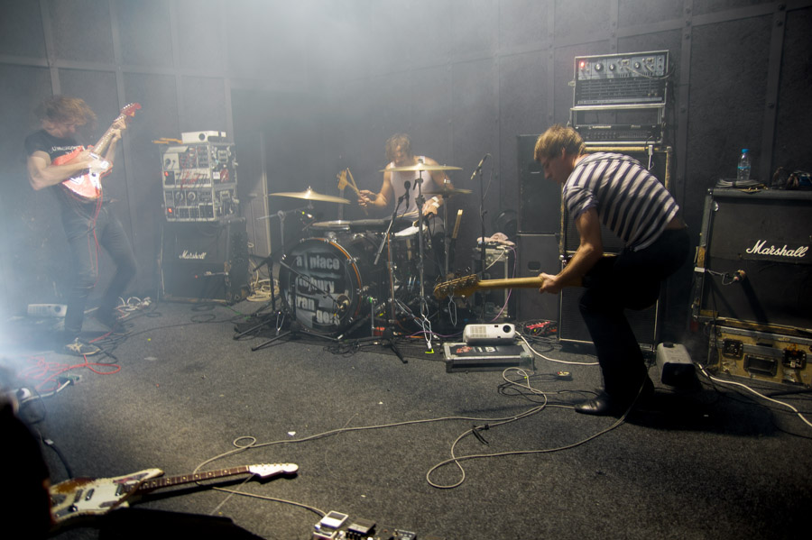 A Place To Bury Strangers playing live, Thessaloniki, Greece, 2013. Live music event photography by Ilias Antoniou.