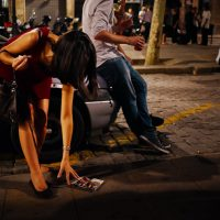 Outdoors night life in the streets of Barcelona, photography by Ilias Antoniou