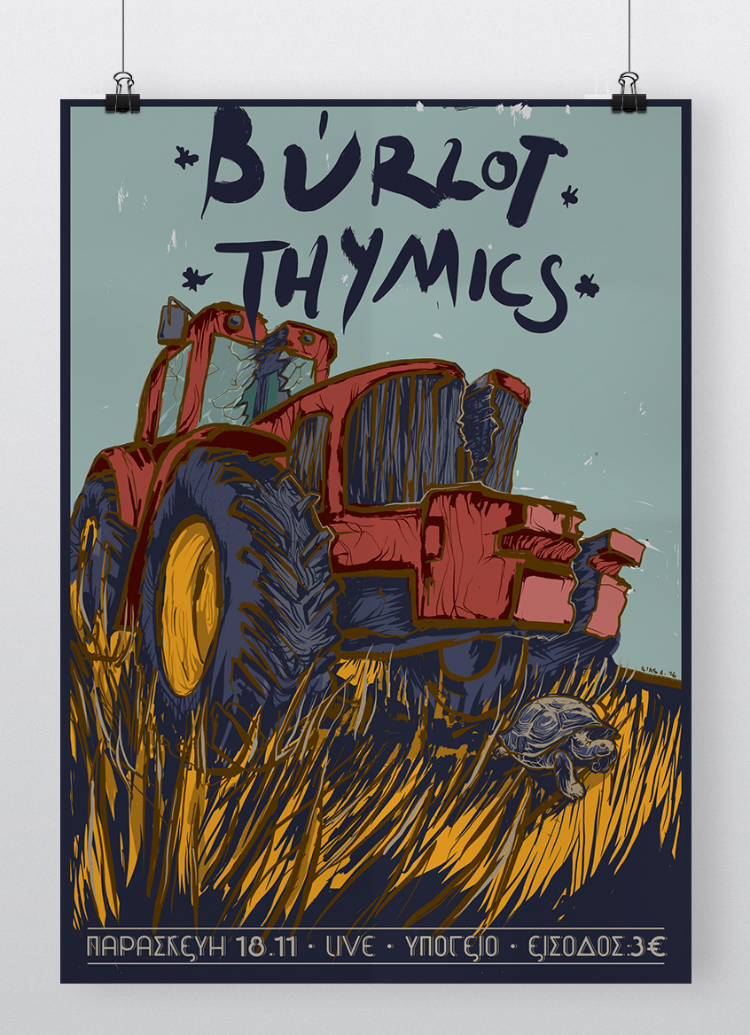 Burlot & Thymics Gig Poster Illustration