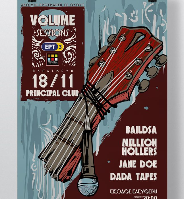 ERT3 Volume Sessions Gig Poster